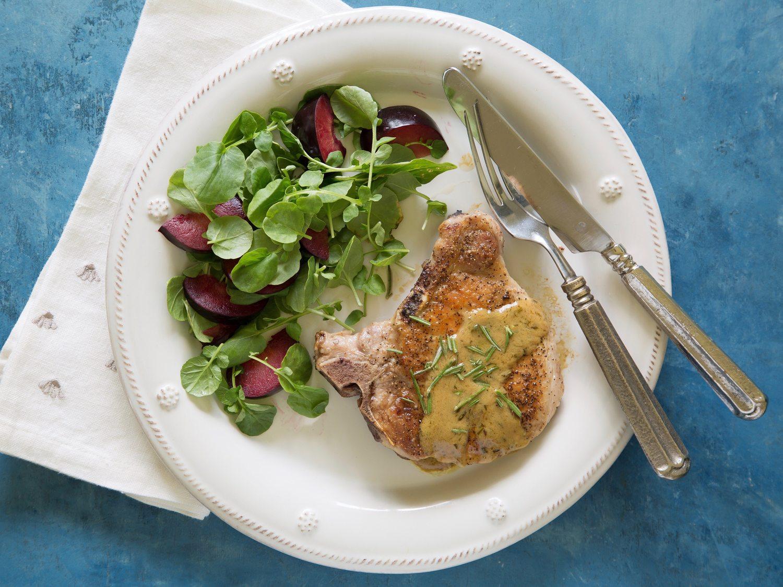 pork chops with rosemary mustard sauce Pork Chops with Rosemary-Mustard Sauce