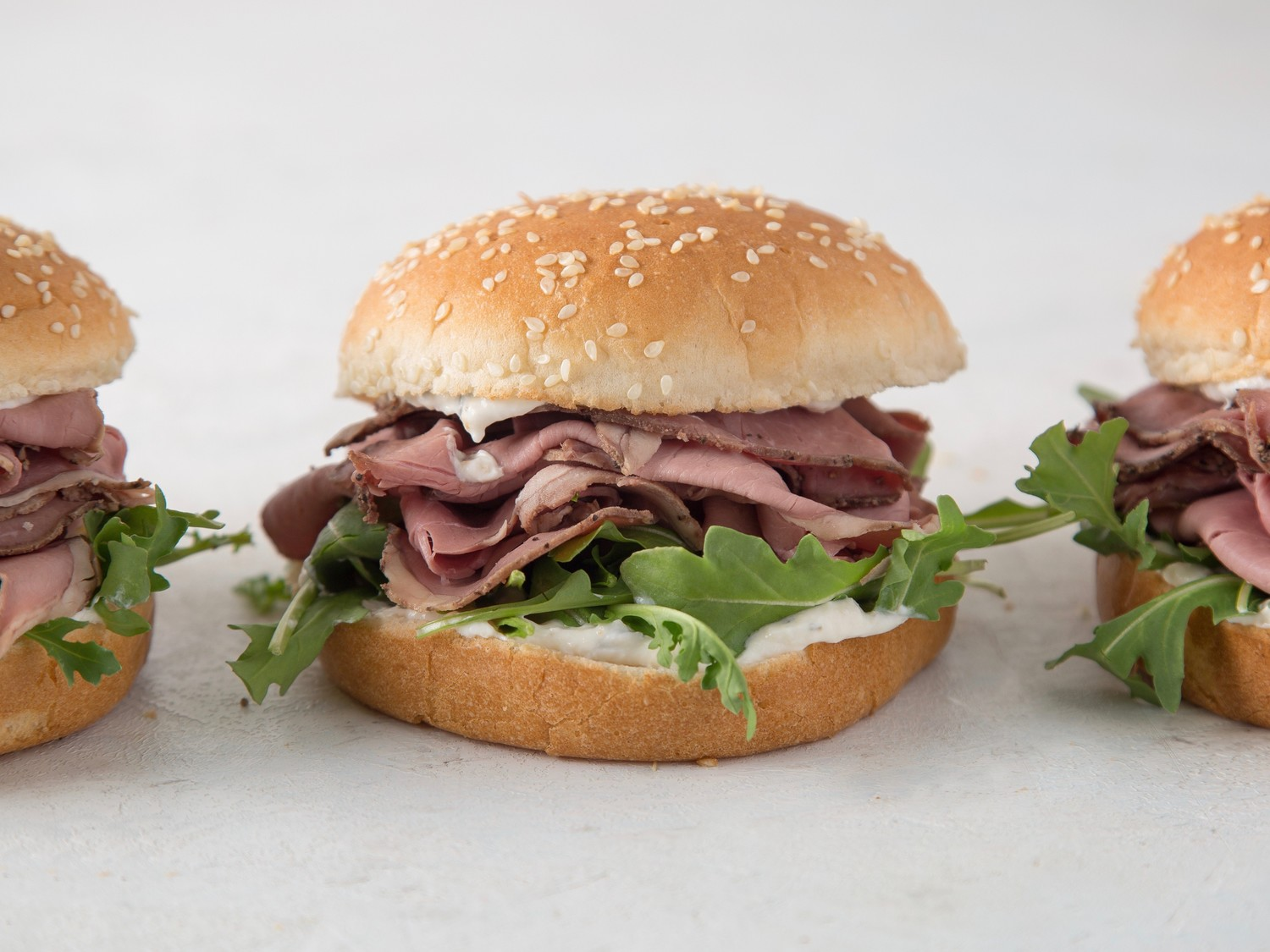 Roast Beef Sandwiches With Horseradish Sauce