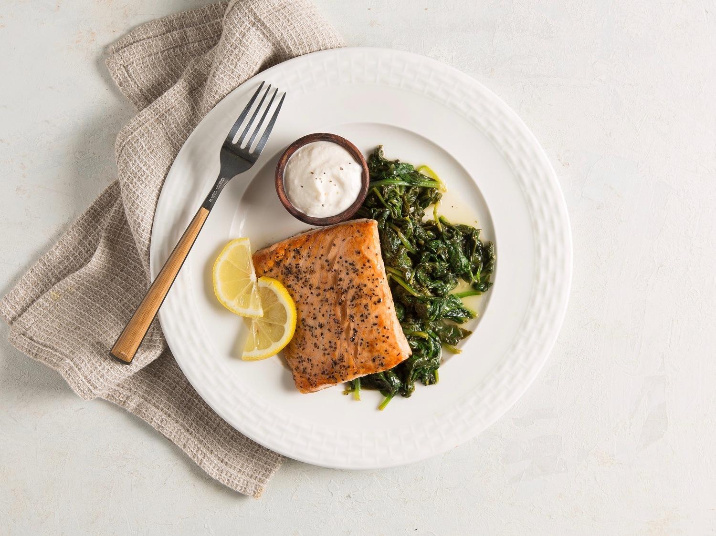 Salmon With Horseradish Sauce